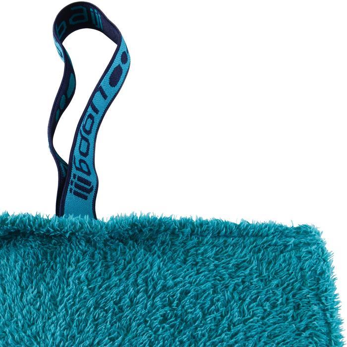 Serviette microfibre bleue ultra douce taille XL 110 x 175 cm