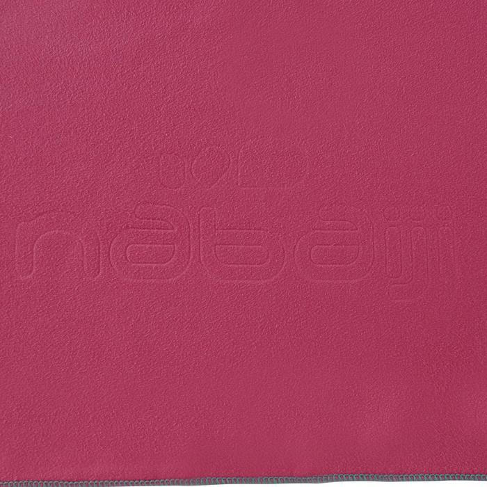 Serviette microfibre rose taille L 80 x 130 cm