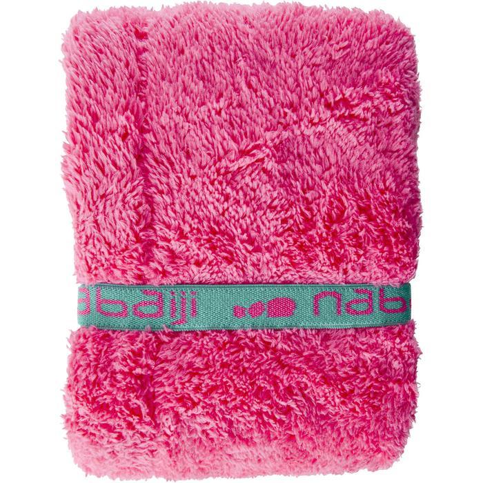 Serviette cheveux rose en microfibre douce