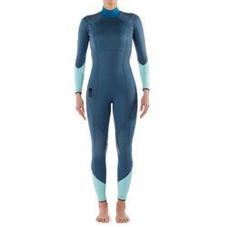 Pakaian selam neoprena wanita SCD 540 3mm dengan bantalan