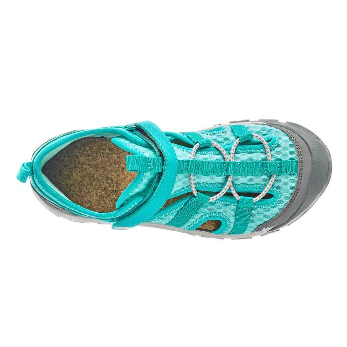 Sandalias de senderismo júnior MH150 JR azul turquesa