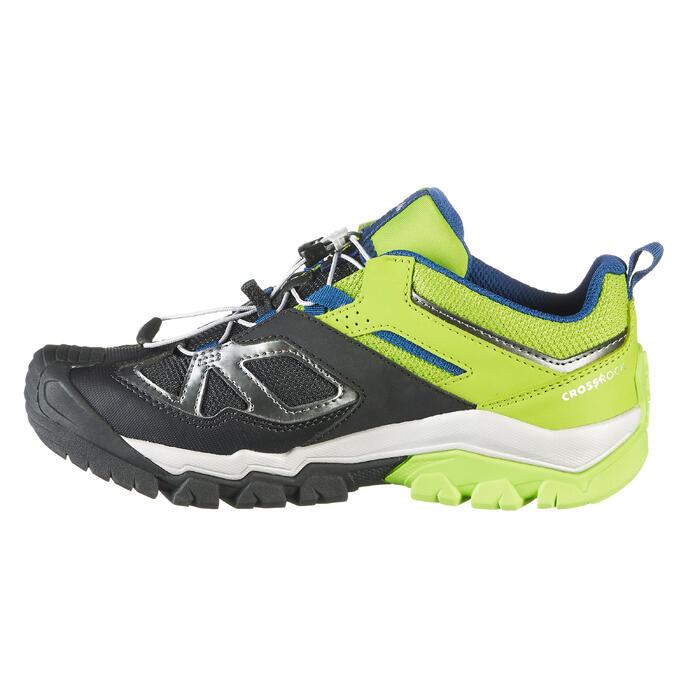 Zapatillas de senderismo montaña niños Crossrock JR Amarillo