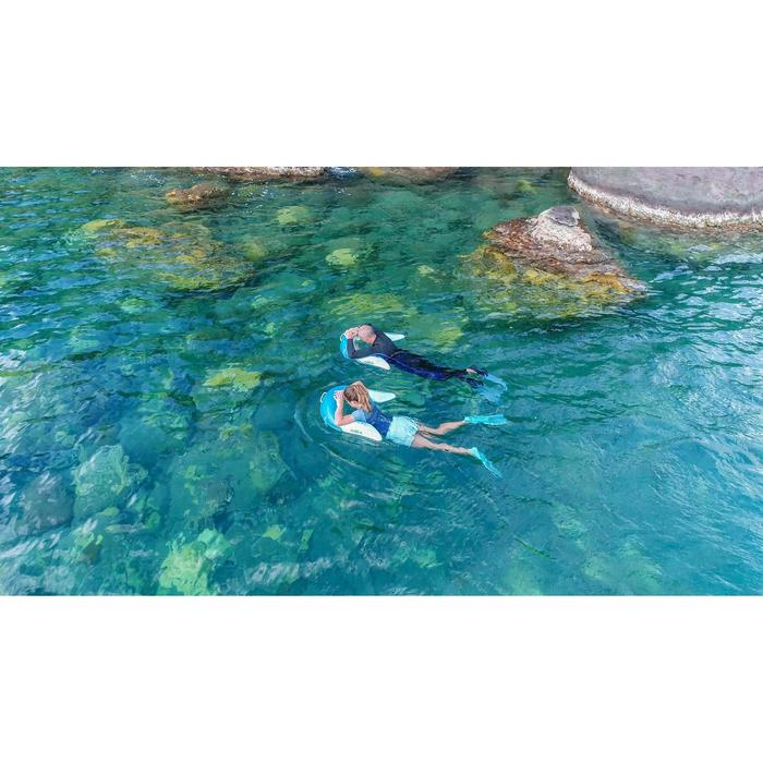 Bouée d'observation de snorkeling Olu 120 fish bleu orange - 1327437