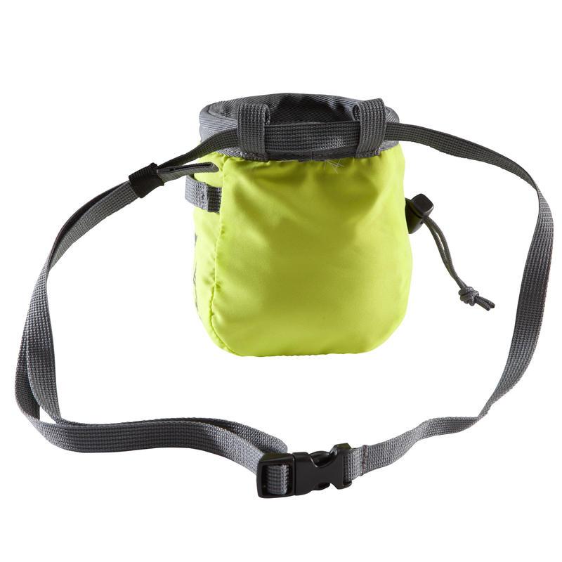 CLIMBING CHALK BAG VERTIKA SIZE M - LIME GREEN