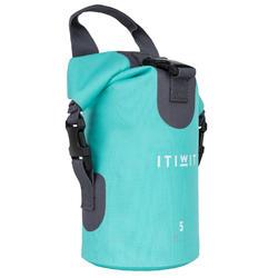 5L 環保材質防水行李袋- 藍綠色