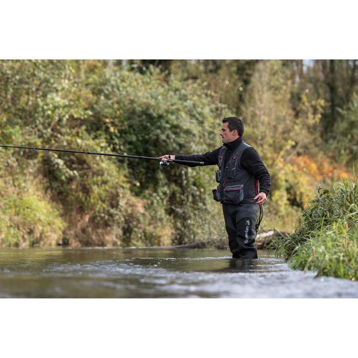 Gilet pêche 500 gris CAPERLAN