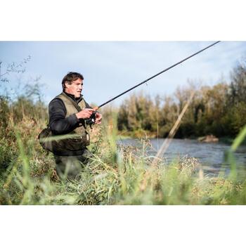 Gilet pêche 100 Kaki CAPERLAN