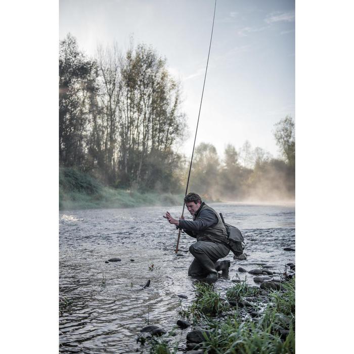 Morral pesca trucha MULTI POCKET TROUT'BAG CAQUI