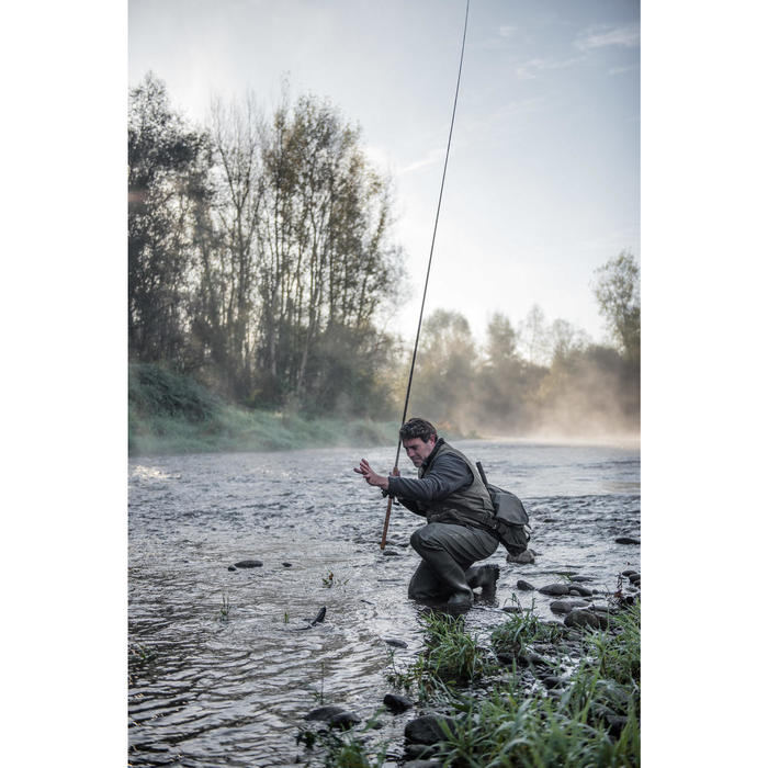 Musette pêche de la truite MULTI POCKET TROUT'BAG KAKI - 1327662