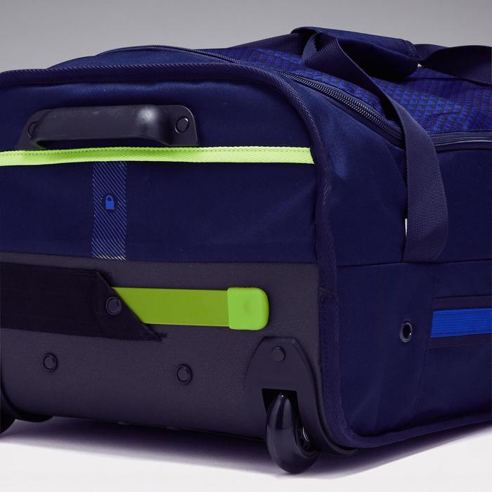 Sporttas op wielen voor teamsport Classic 70 liter blauw groen