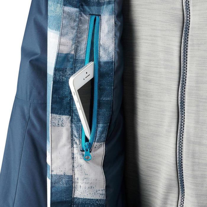 Chaqueta snowboard y esquí hombre SNB JKT 100 estampado azul
