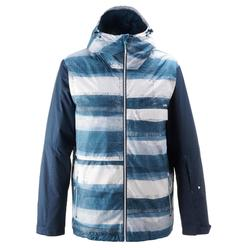 Veste de snowboard et de ski homme SNB JKT 100 print bleu