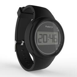 Montre chronomètre de course à pied W100 P noire