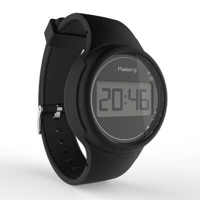 Reloj deportivo cronómetro mujer y junior W100 S negro