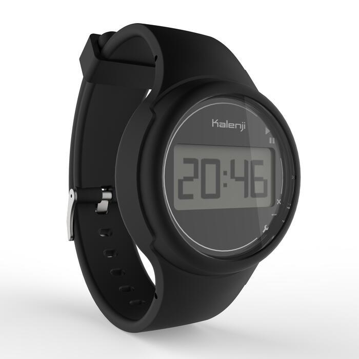 Montre chronomètre de course à pied femme et junior W100 S noire - 1327832