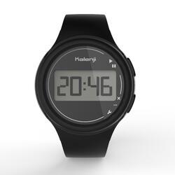 Reloj deporte cronómetro mujer y junior W100 S negro