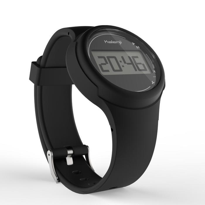 Montre chronomètre de course à pied femme et junior W100 S noire - 1327851