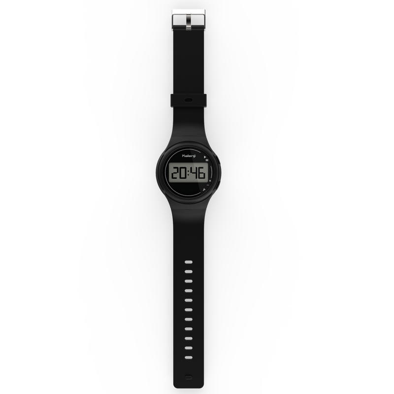 W100 Men's Running Stopwatch - Black