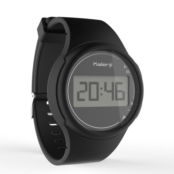 Montre chronomètre de course à pied homme W100 M noire - 1327859