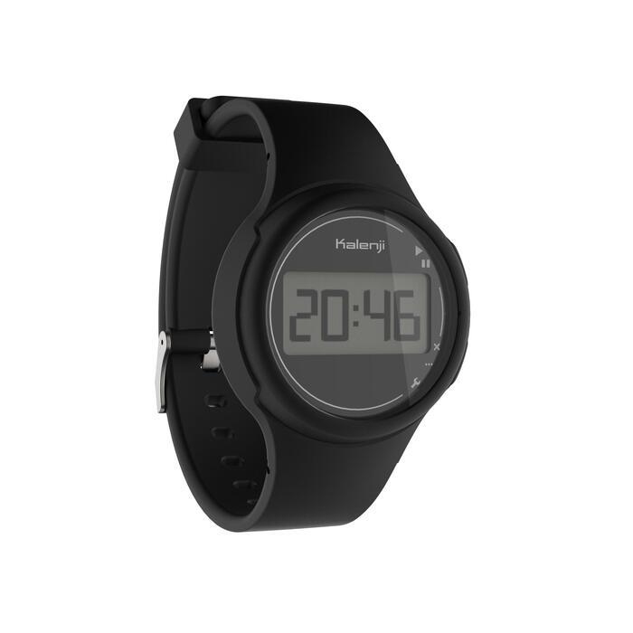 Montre chronomètre de course à pied femme et junior W100 S noire - 1327867