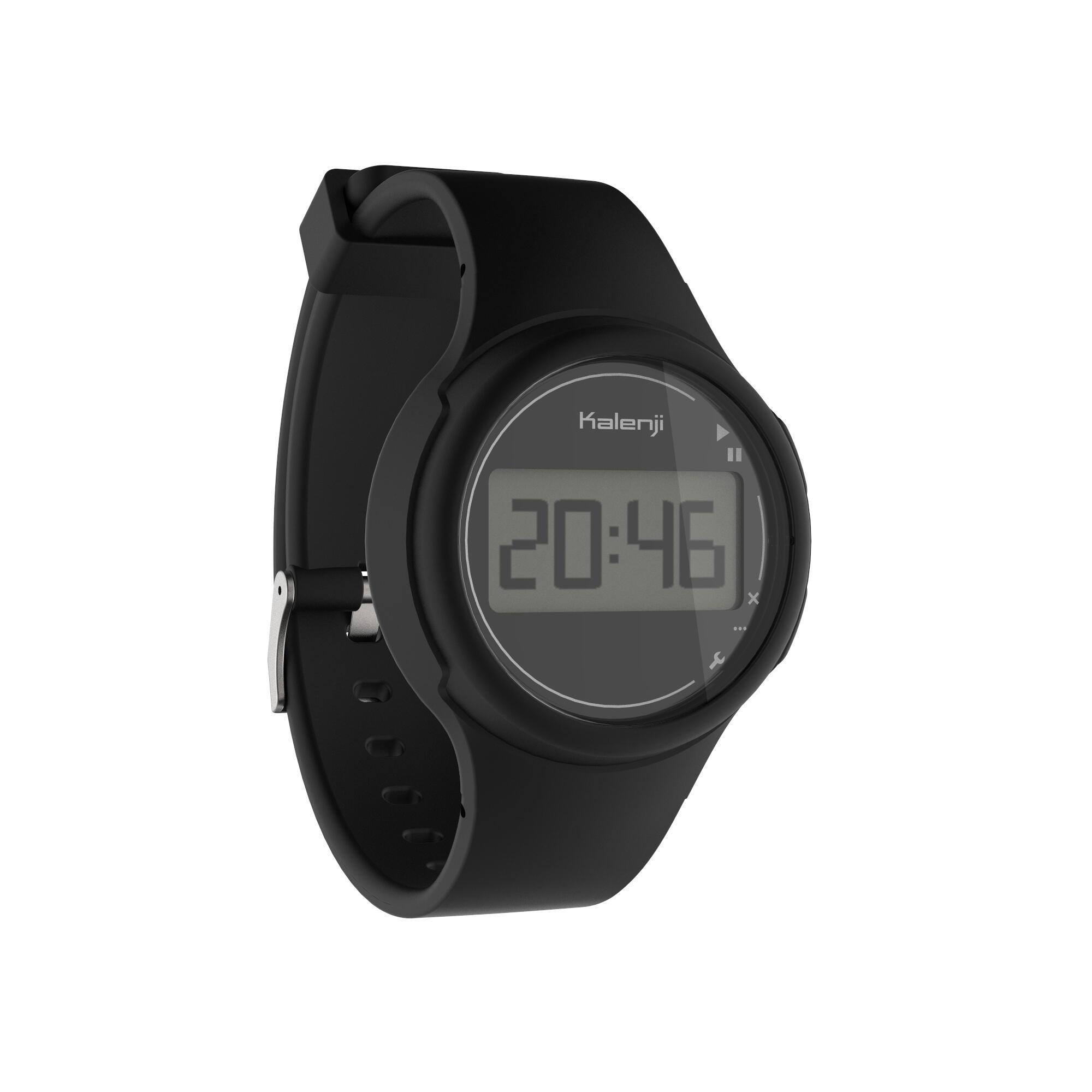 W100 S women's and children's running stopwatch black