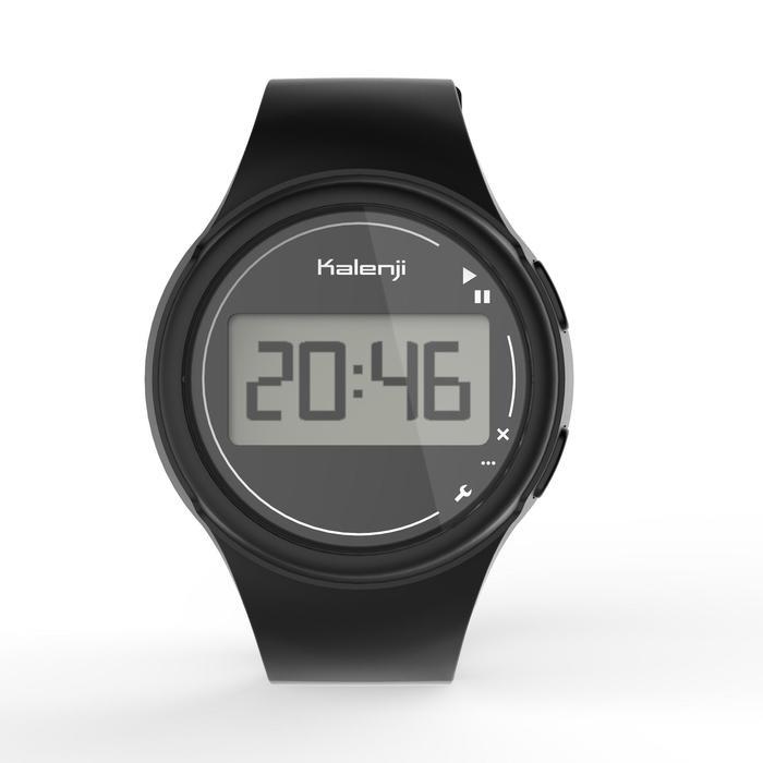 Montre chronomètre de course à pied homme W100 M noire - 1327876