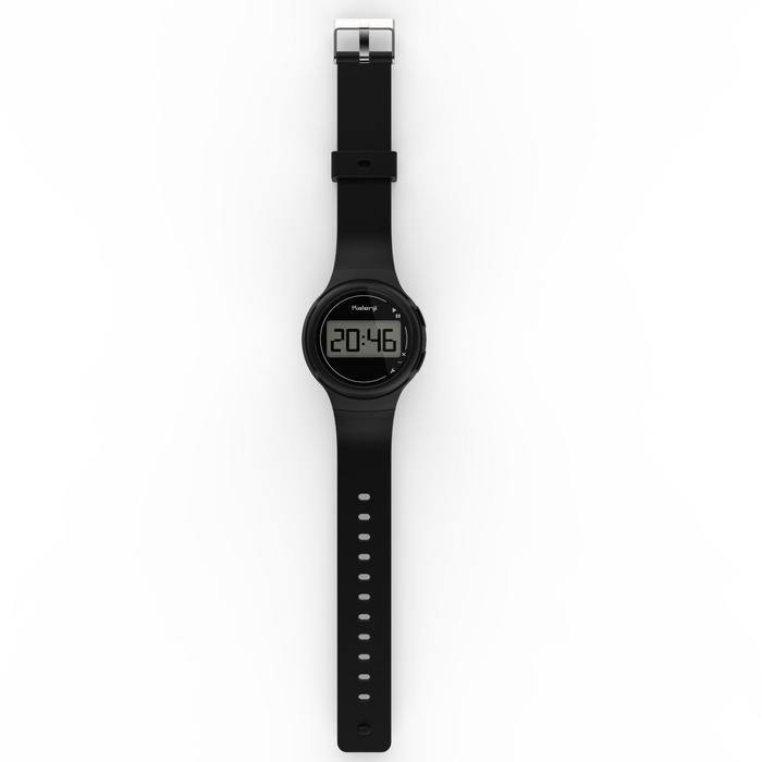 Hardloophorloge met stopwatch W100 S zwart