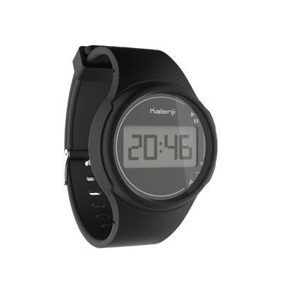 Reloj deportivo cronómetro hombre W100 M negro