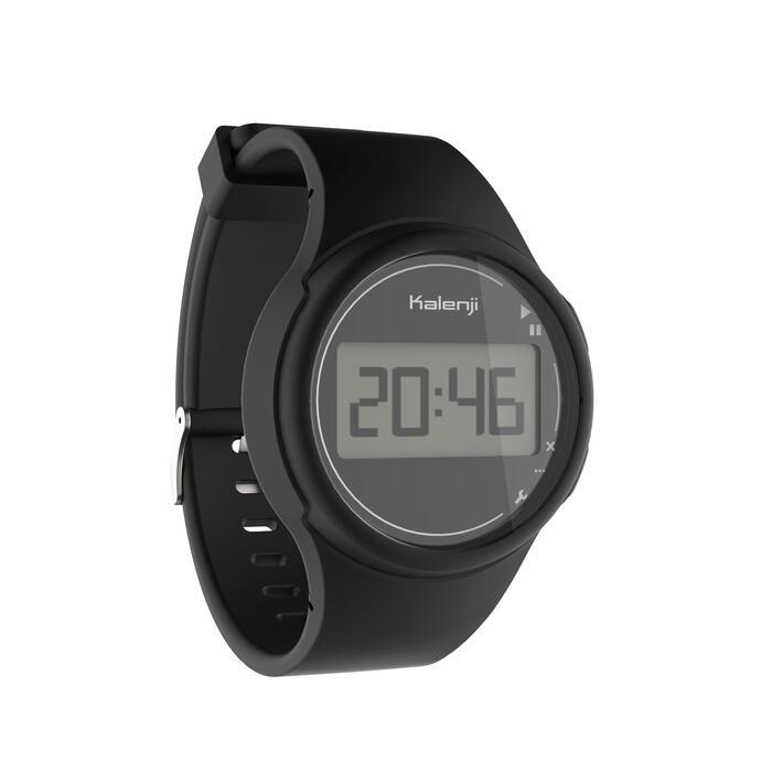 Montre chronomètre de course à pied homme W100 M noire - 1327884