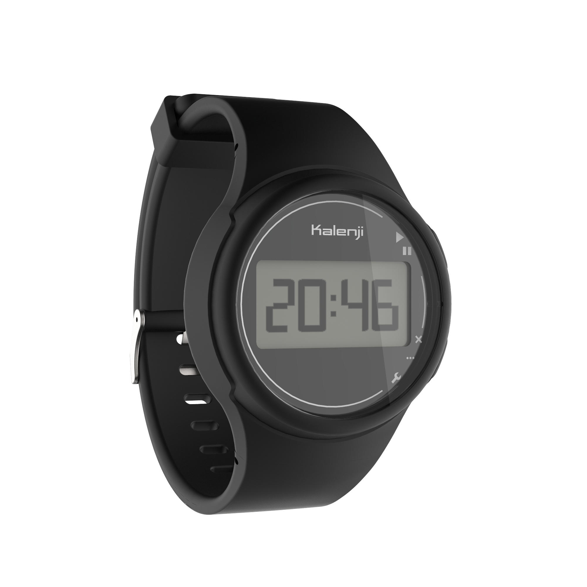 W100 Men's Running Stopwatch - Black
