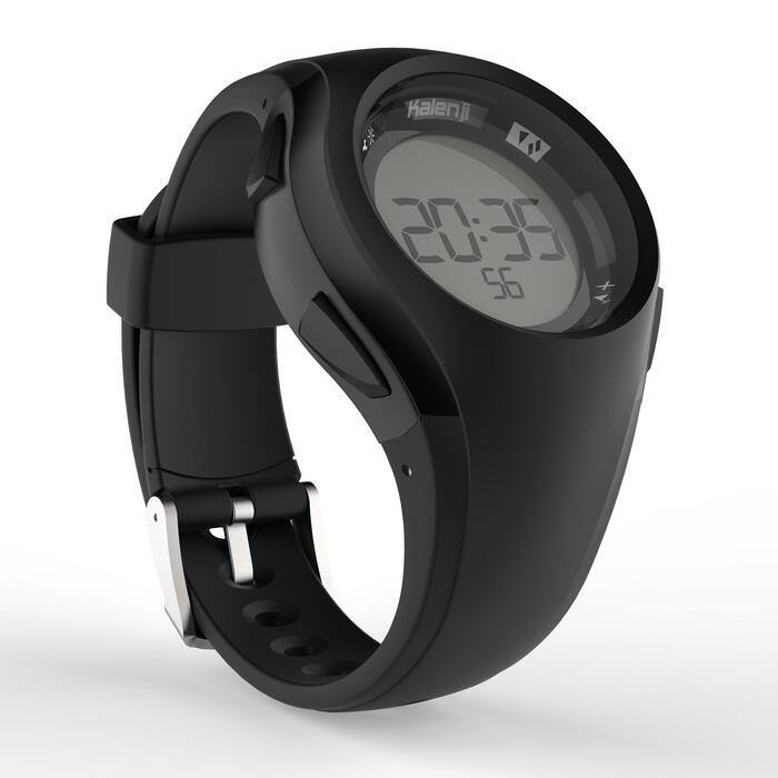 Montre chronomètre de course à pied W200 M noire