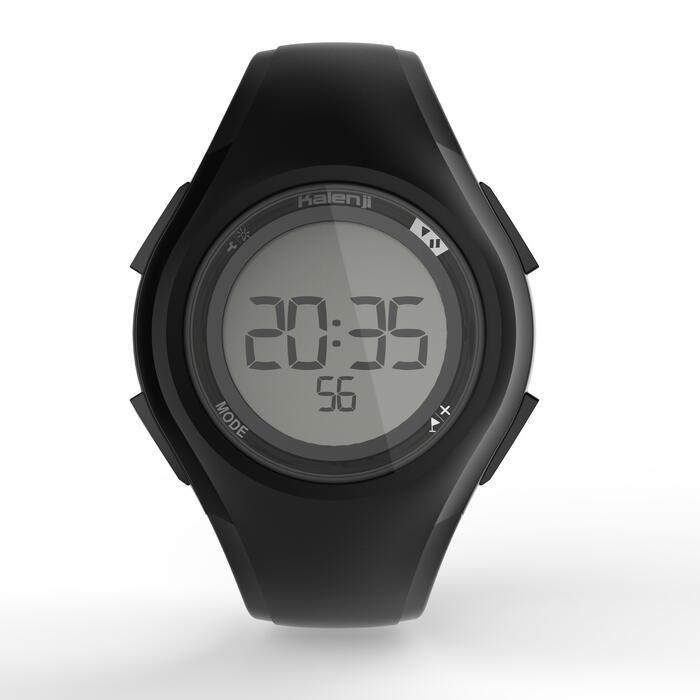 Montre chronomètre de course à pied homme W200 M noire