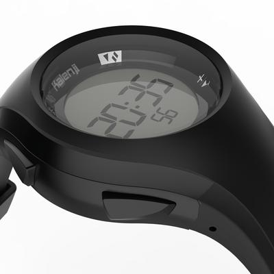 שעון עצר לריצה דגם W200 לגברים - שחור