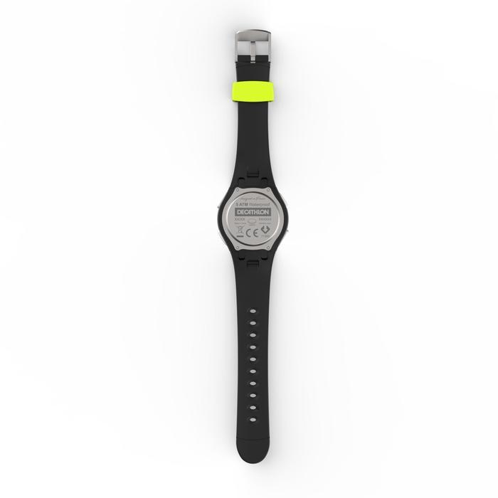 Montre chronomètre de course à pied homme W200 M noire et jaune