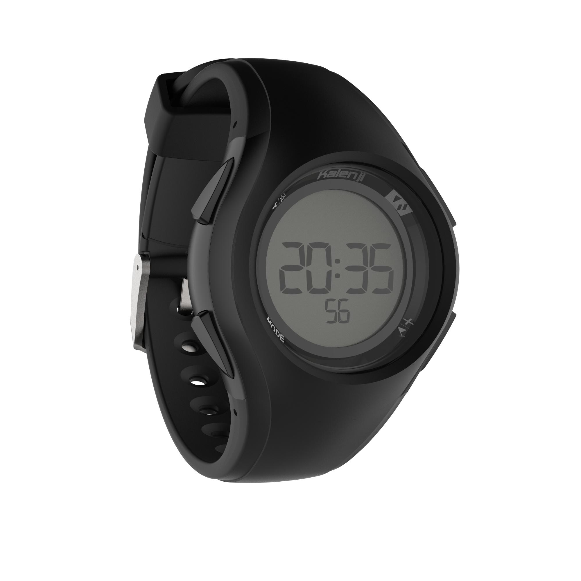 W200 M men's running stopwatch black
