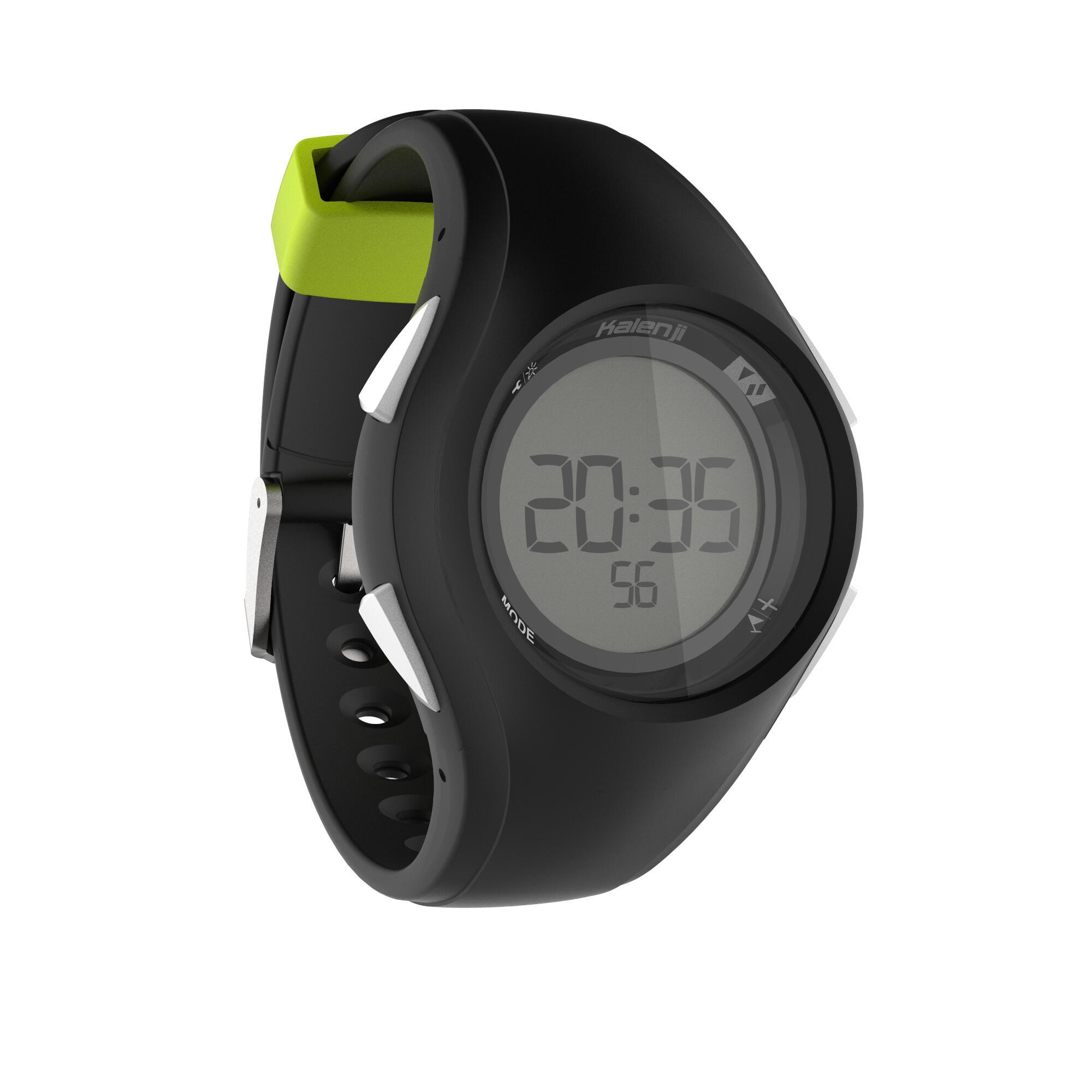 Reloj digital de deporte hombre W200 M temporizador negro verde