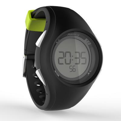 Montre chronomètre de course à pied W200 M noire et jaune