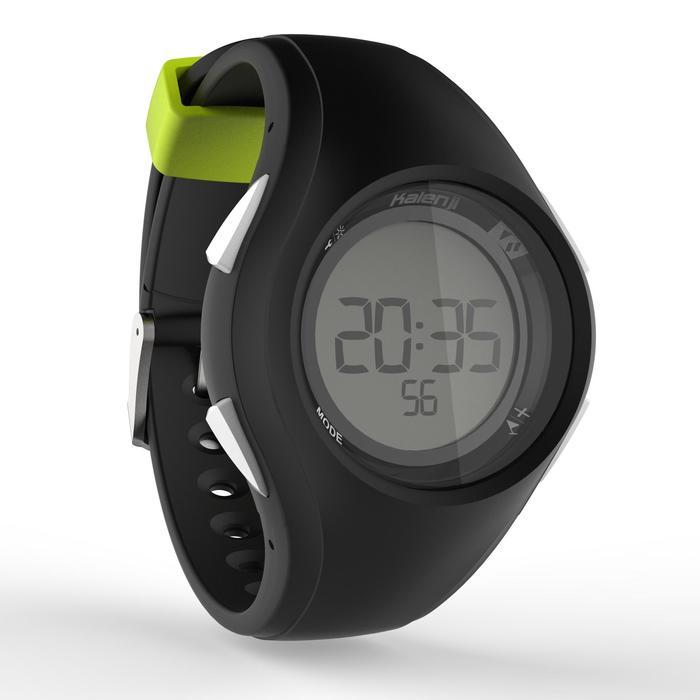 Sporthorloge stopwatch heren W200 M zwart/geel