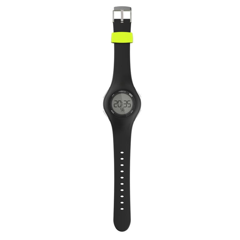 W200 M men's running stopwatch - Black and yellow