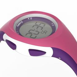 Montre chronomètre de course à pied W200 P rose et violet