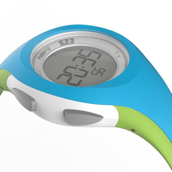 Montre chronomètre course à pied femme et junior W200 S bleu & vert