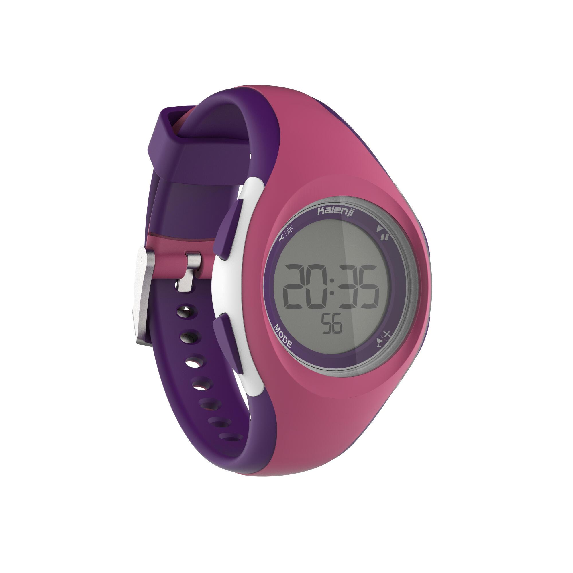 W200 S Jam Tangan Digital Timer Sport Wanita Dan Anak - pink dan ungu