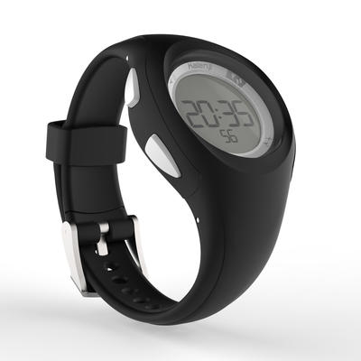 שעון ספורט דיגיטלי עם טיימר לנשים ולילדים -דגם W200 S - שחור