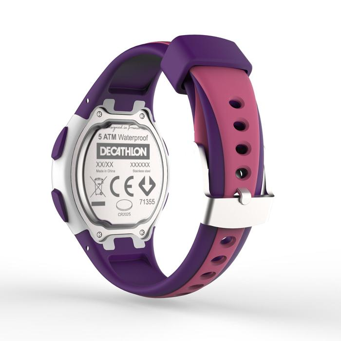 Hardloophorloge met stopwatch W200 S roze en paars