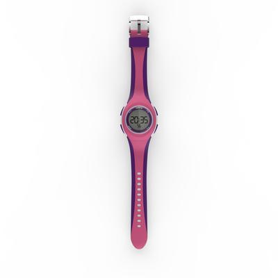 שעון עצר לריצה לנשים ולילדים דגם W200 S ורוד וסגול