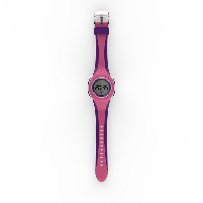 Montre chronomètre de course à pied femme et junior W200 S rose et violet