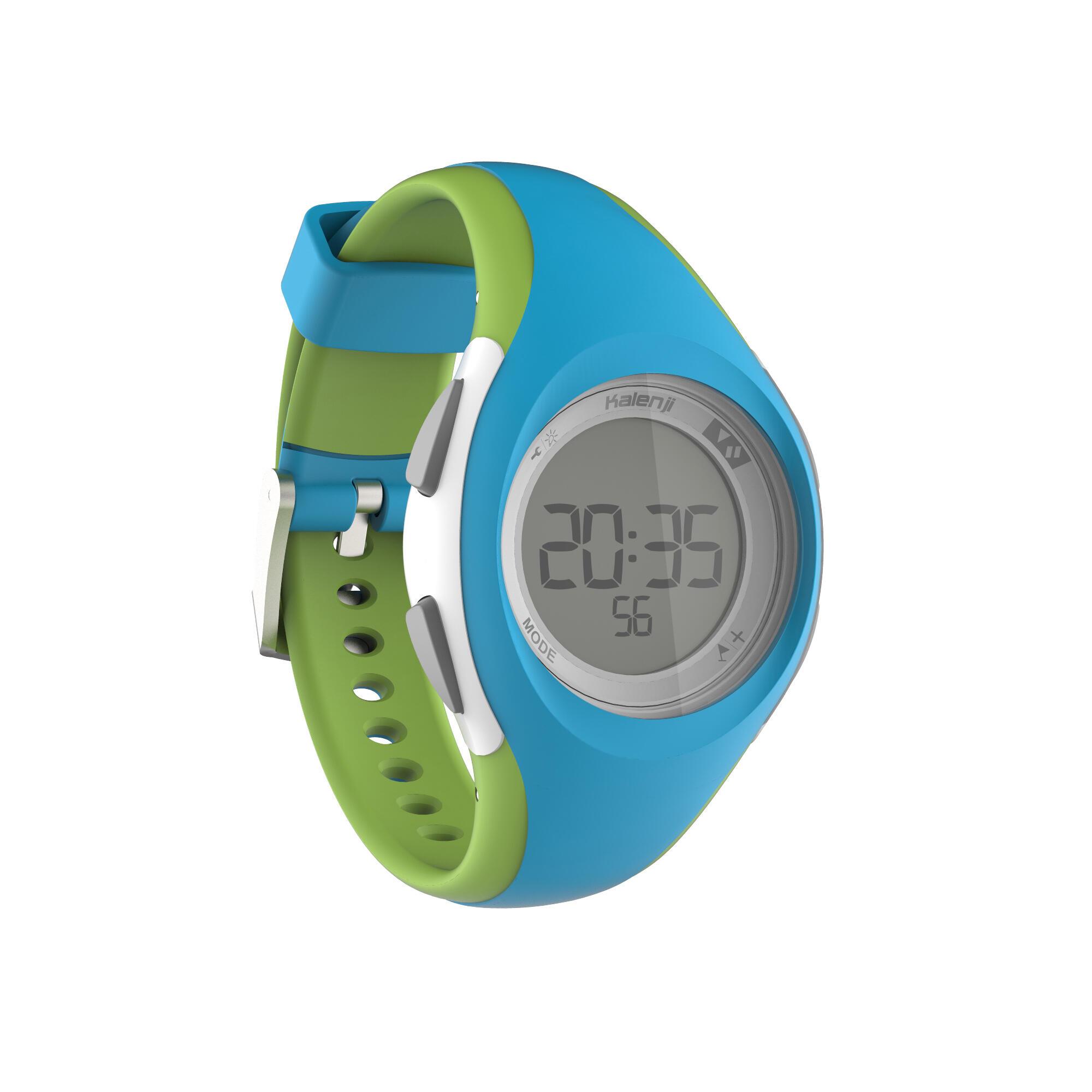 Reloj deporte dama y junior W200 S temporizador azul y verde