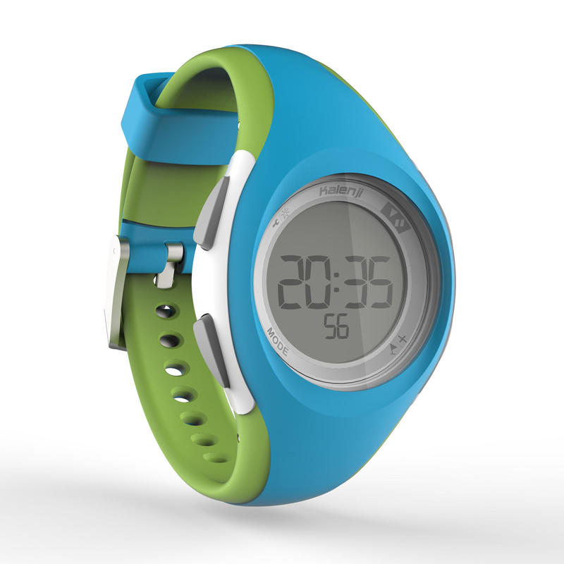 W200 S women and children's running watch timer blue and green