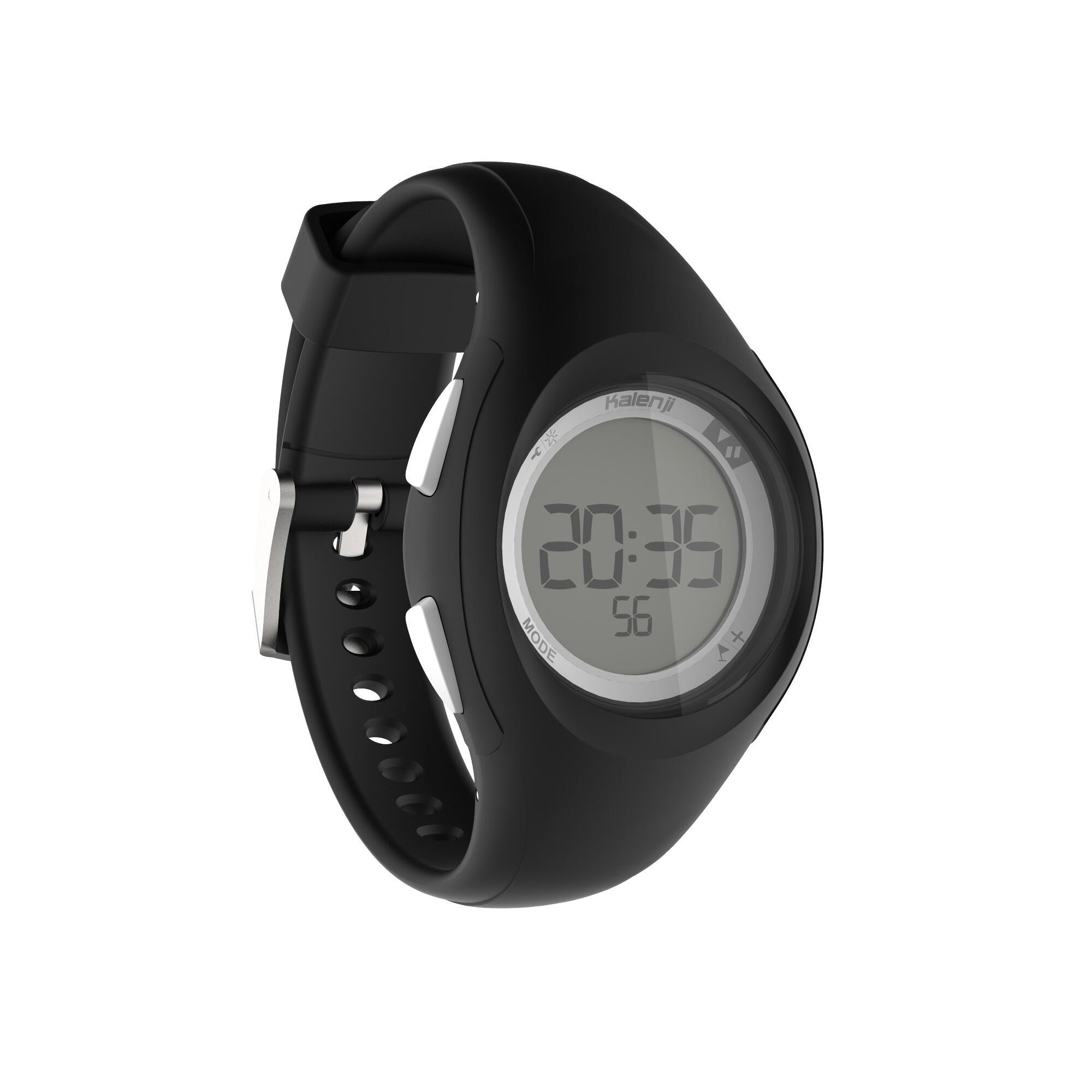 W200 S women and children's digital sport watch timer black