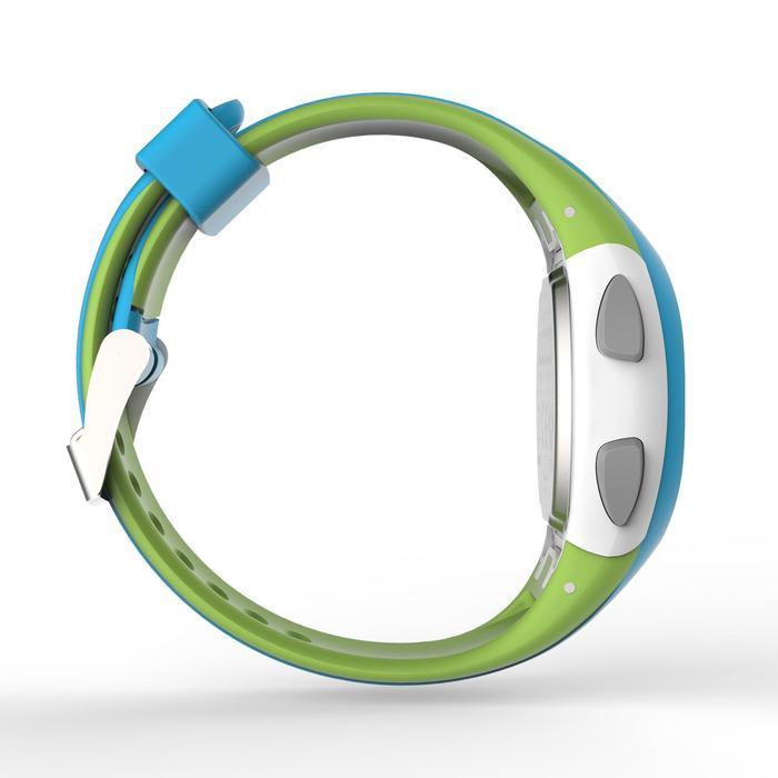 Horloge met stopwatch hardlopen dames en kinderen W200 S blauw / groen